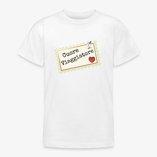 CUORE VIAGGIATORE Scritta con aeroplanino e cuore - Maglietta per ragazzi