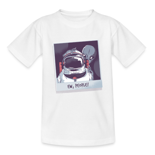 Aliens and astronaut - Teenage T-Shirt
