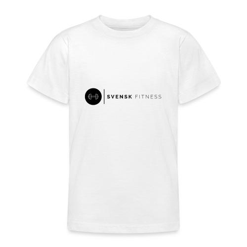 Svart logo vertikal dam - T-shirt tonåring