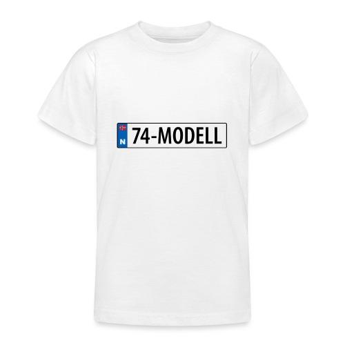 74-modell kjennemerke - T-skjorte for tenåringer
