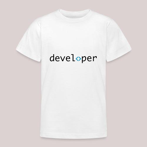 developer, coder, geek, hipster, nerd - Teenager T-Shirt