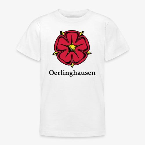 Lippische Rose mit Unterschrift Oerlinghausen - Teenager T-Shirt