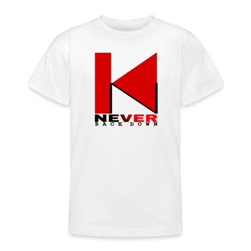 NEVER BACK DOWN - T-shirt Ado