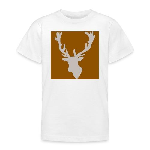 Hirch B BROWN WHITE - Teenager T-Shirt