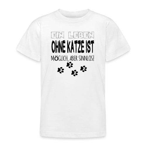 Katzen Katze Geschenk Katzenliebhaber Cat - Teenager T-Shirt