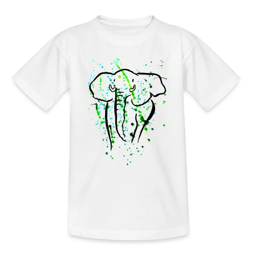 Afrikanischer Elefant - Kunst - Teenager T-Shirt