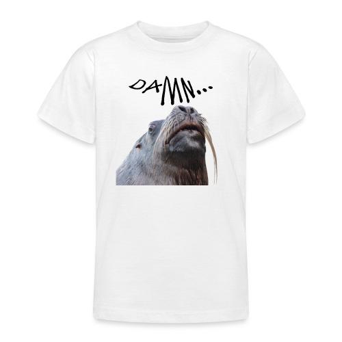 tier seelöwe robbe einhorn verdammt spass trend - Teenager T-Shirt