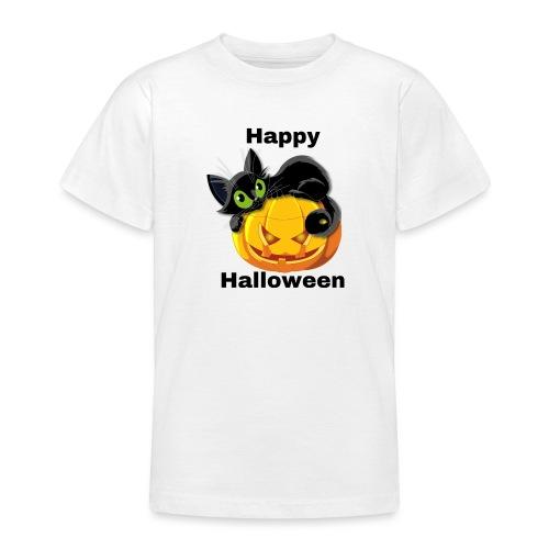Happy Halloween cat - Teenage T-Shirt
