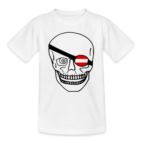 Österreich Flagge - Schädel - Teenager T-Shirt