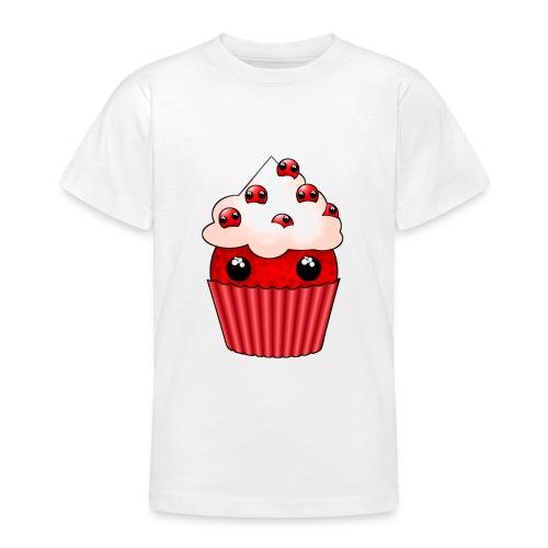 kawaii cupcake cranberry - Teenage T-Shirt