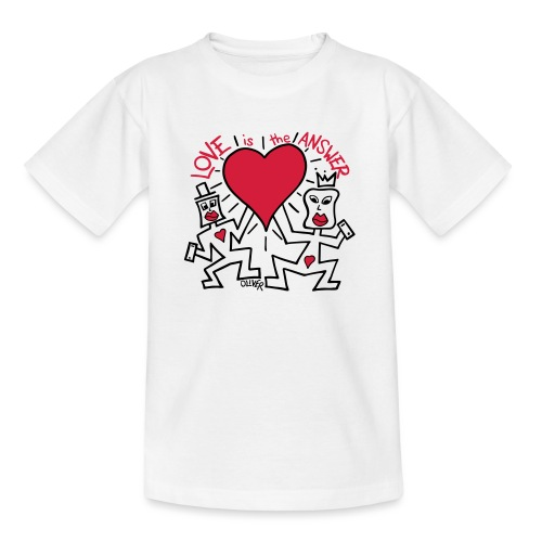 Love is the Answer by Oliver Schibli - Teenage T-Shirt