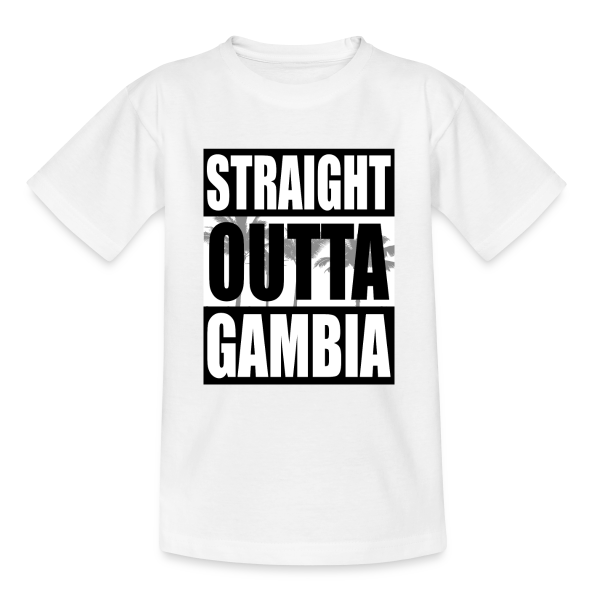 Straight Outta Gambia - Teenager T-Shirt