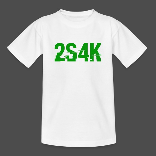LOGO Grønn Hacked - T-skjorte for tenåringer