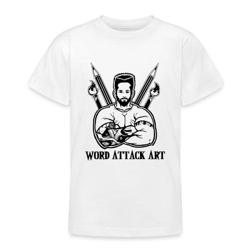 Word Attack Art - Teenager T-Shirt