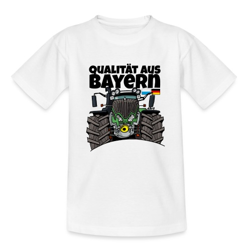 Qualitaet aus Bayern F def - Teenager T-shirt