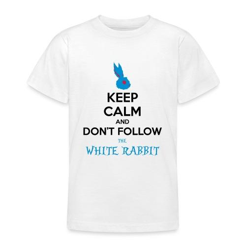 White Rabbit Keep Calm - Maglietta per ragazzi