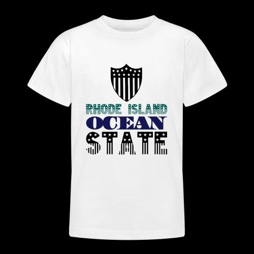 rhode island ocean state - Teenage T-Shirt