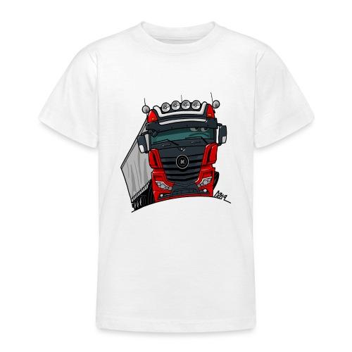 0807 M truck zwart rood - Teenager T-shirt