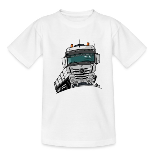 0807 M truck wit trailer - Teenager T-shirt
