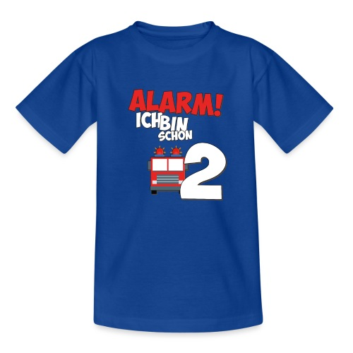 Feuerwehrauto 2. Geburtstag Jungen 2 Jahre - Teenager T-Shirt