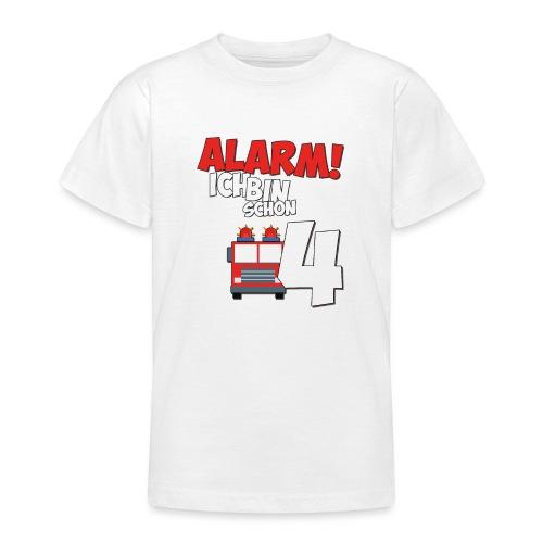 Feuerwehrauto 4. Geburtstag Jungen 4 Jahre - Teenager T-Shirt
