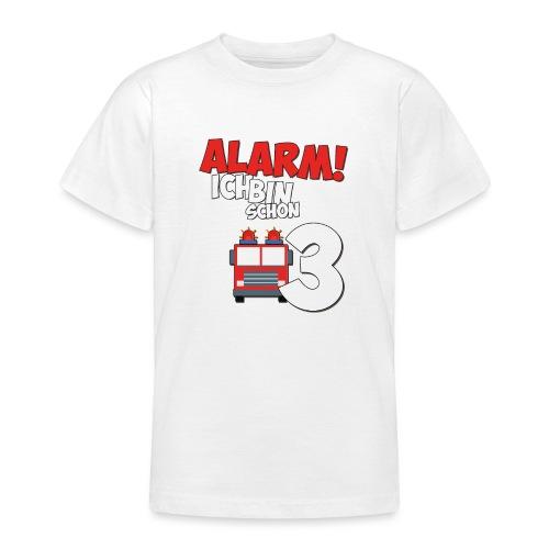Feuerwehrauto 3. Geburtstag Jungen 3 Jahre - Teenager T-Shirt