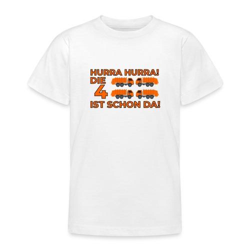 Czwarte urodziny śmieciarka - Koszulka młodzieżowa