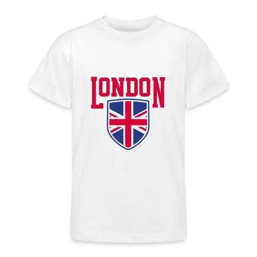 London Souvenir - London Wappen Flagge - Teenager T-Shirt