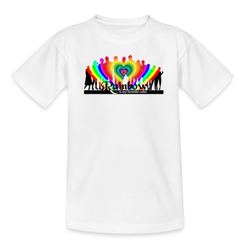 rainbow is my favorite color - Teenager T-Shirt