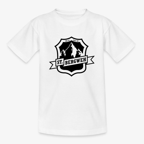 St. Bergweh Logo einfarbig - Teenager T-Shirt