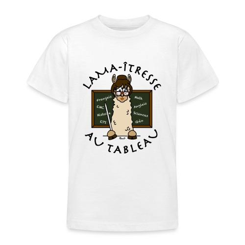 Lama-îtresse, tableau, maîtresse, cadeau, vacances - T-shirt Ado