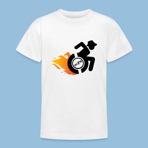 Roller met vlammen 014 - Teenager T-shirt