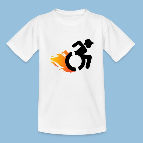 Roller met vlammen 016 - Teenager T-shirt