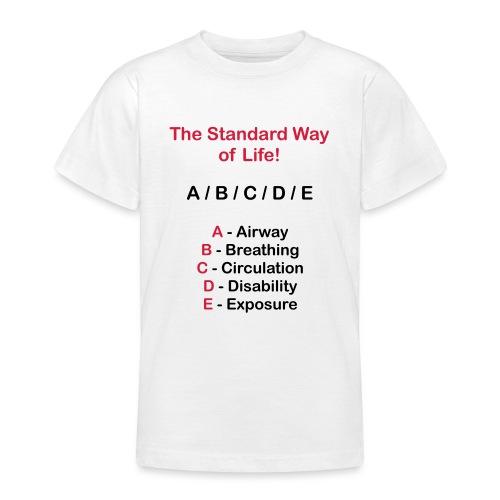 Rettungsdienst ABC Schema - Teenager T-Shirt