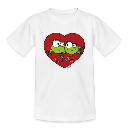 Grenouilles Frogs, Love, St. Valentin, couple - T-shirt Ado