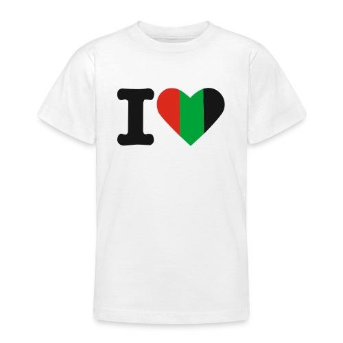hartjeroodzwartgroen - Teenager T-shirt