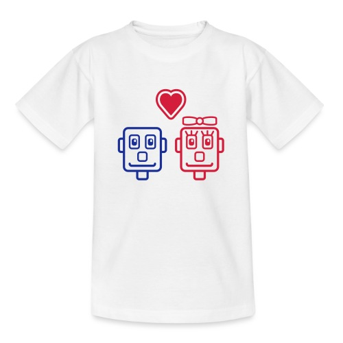 Motif Robots Amoureux - T-shirt Ado