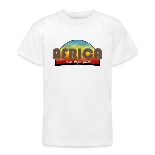 Africa_love_hope_and_faith2 - Maglietta per ragazzi
