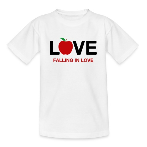 Falling in Love - Black - Teenage T-Shirt