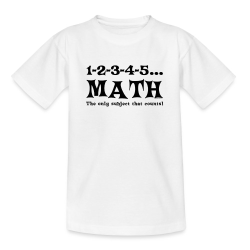 Black Math Counts - Teenage T-Shirt