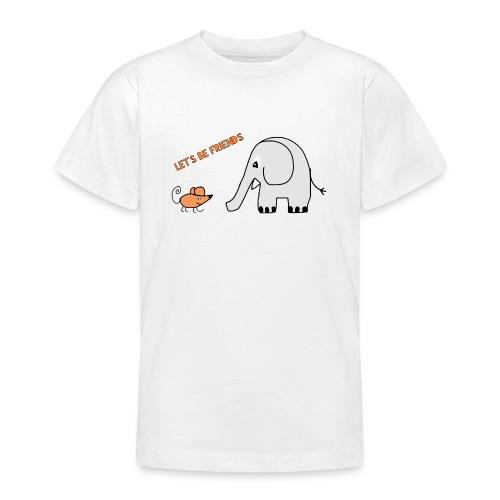 Elephant and mouse, friends - Teenage T-Shirt