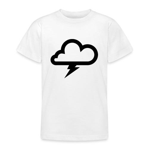 Wolke mit Blitz - Teenager T-Shirt