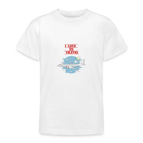 I Love To Travel - Maglietta per ragazzi