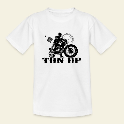 ton up black - Teenager-T-shirt