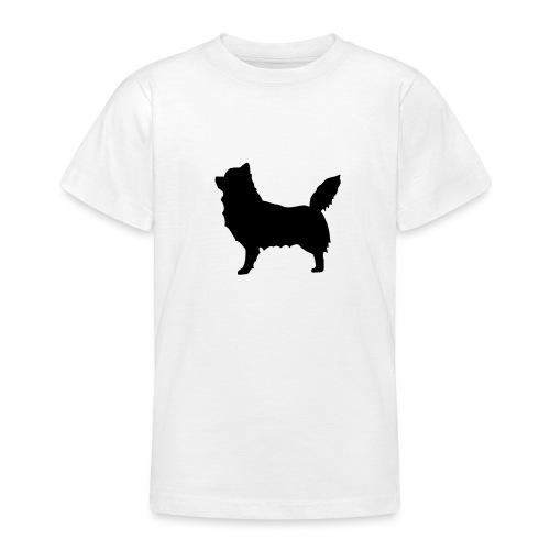 Chihuahua pitkakarva musta - Nuorten t-paita