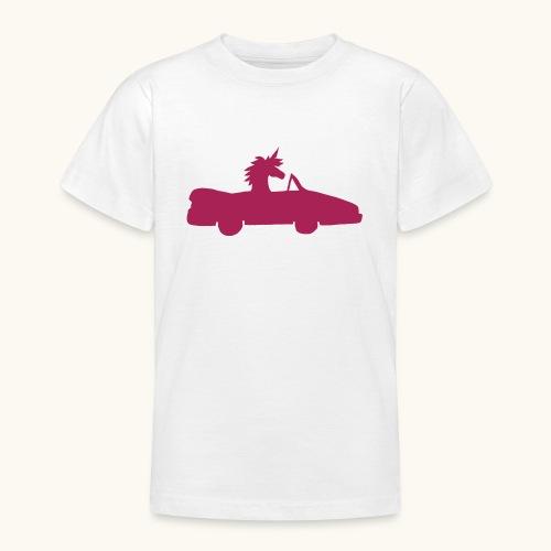 Cadeau de permis de conduire drôle de voiture de la Licorne convertible - T-shirt Ado