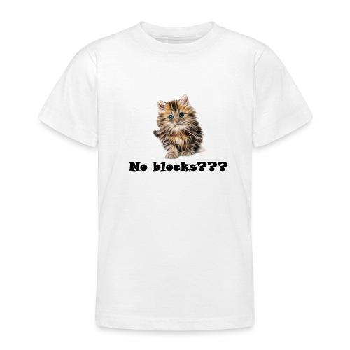 No block kitten - T-skjorte for tenåringer
