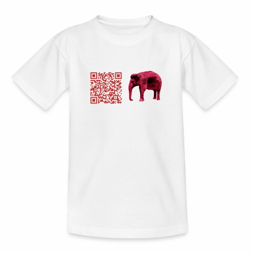 Checkie Brown - Elefant - Rot - Teenager T-Shirt