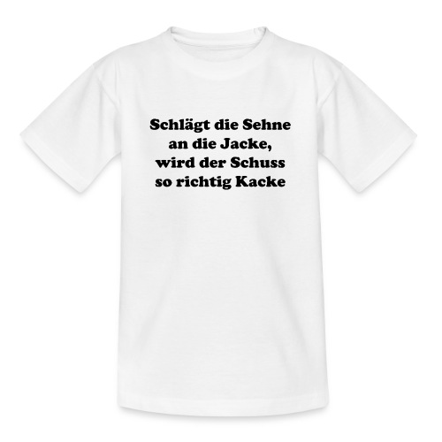 Sehne Jacke - Teenager T-Shirt
