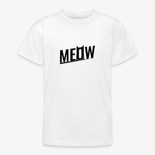 Meow black - Koszulka młodzieżowa